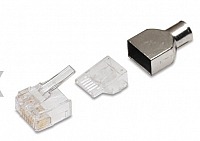 AMP Category 6 Modular Plug, RJ45, 24-23 AWG, Solid