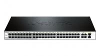 48-Port Fast Ethernet Smart Managed Switch with 4 Gigabit Ethernet ports (including 2 Combo SFP) (fanless)