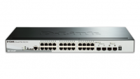 28-Port Gigabit Stackable PoE Smart Managed Switch including 2 10G SFP+ and 2 SFP ports (24 x PoE ports, 193 W PoE budget, smart fans)