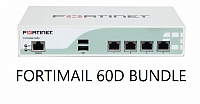 Fortinet FortiMail-60D 8x5 Enhanced Bundle, 1 Year