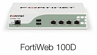 Fortinet FortiWeb-100D Appliance plus 1 year 8x5 Forticare and FortiGuard Bundle