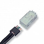 AMP Category 5e Modular Plug, Unshielded, RJ45, 24AWG
