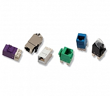 AMP Category 6 Modular Jack, Unshielded, RJ45, SL, T568A/B, Almond